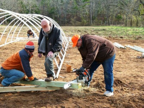 Cold Frames go up in Stone County